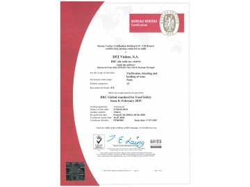 DFJ VINHOS, S.A_BRC Certification_Food_2019-001-001